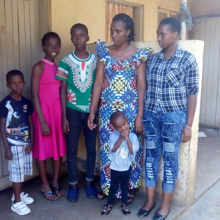 From Left- Nshuti 8, Denise10, Mukuzu 11, Uwitonze Bintu, Mwiza 3, Mutesi 12