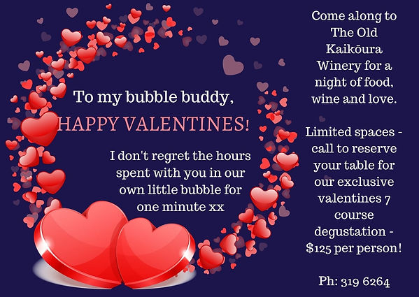 Valentines at the Old Kaikoura Winery
