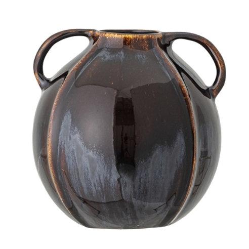 Vase blue stoneware