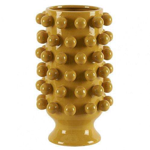 Vase céramique grappa moutarde