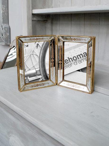 Double cadre miroir