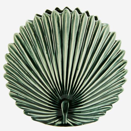 Leaf vase green