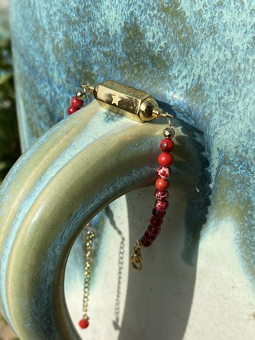 Bracelet Hope jaspe rouge