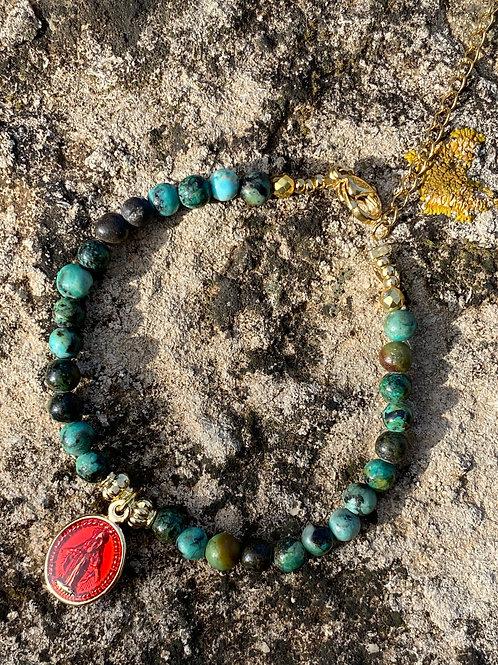 bracelet rita turquoise africaine