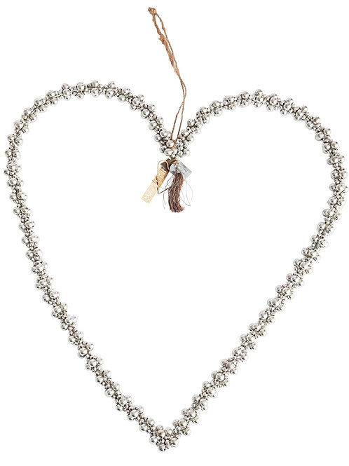 Heart bead silver
