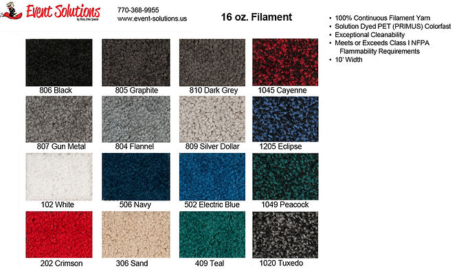 16 oz. carpet