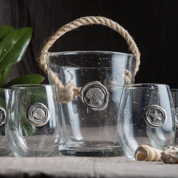 Costal Collection Glasses and Ice Bucket