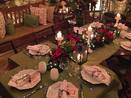 Decorando a Mesa de Natal