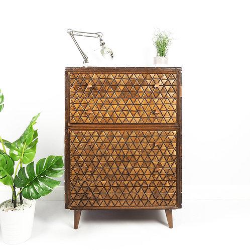 SOLD Meredew Mid Century Chest of Drawers Wooden Storage Retro
