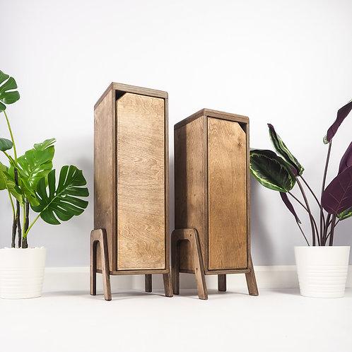 Birch Plywood Cabinet, Handmade Wooden Furniture, Shelving Unit, Set of 2