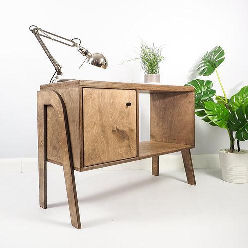 Mid Century Vinyl Storage, Record Cabinet, Plywood Furniture