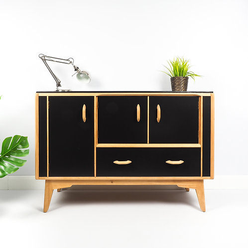 SOLD G Plan Brandon Oak Mid Century Sideboard 1950s Retro Painted Black