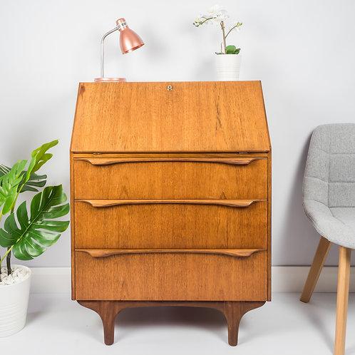 SOLD Vintage Midcentury Teak Bureau, Drinks Cabinet, Desk, Retro,Danish Style