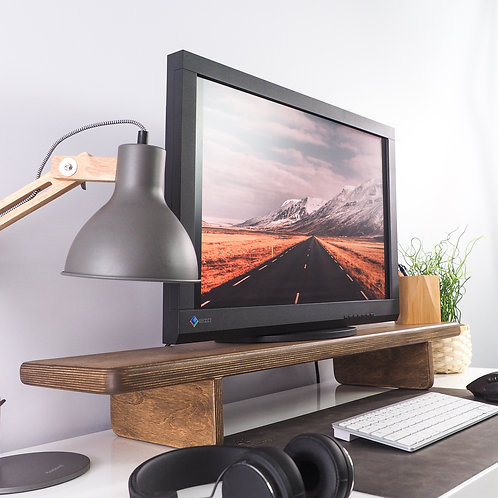 Plywood monitor stand