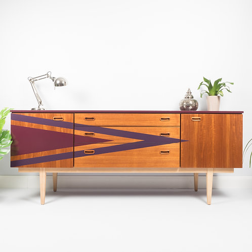 Mid Century 1960s Nathan Sideboard With Storage, Media Unit