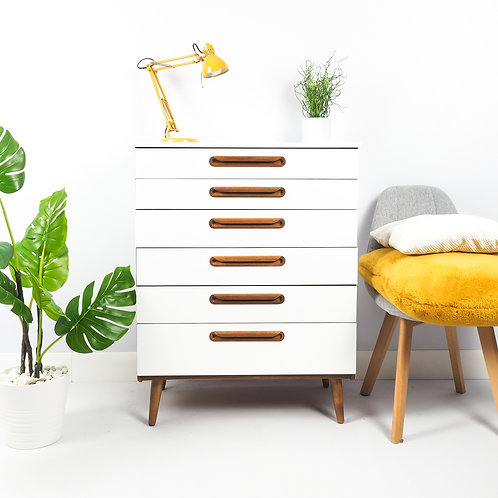 Mid Century Chest Of Drawers By Schreiber Storage Hallway Unit