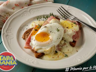 Croque madame – bruschettas de jamón y huevo