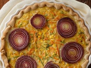 Tarta de verduras y cebolla Tapamanía