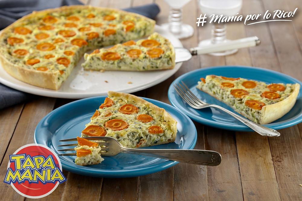 tarta zucchini y zanahoria