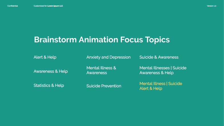 Here I chose what my animation will focus on and/or do.