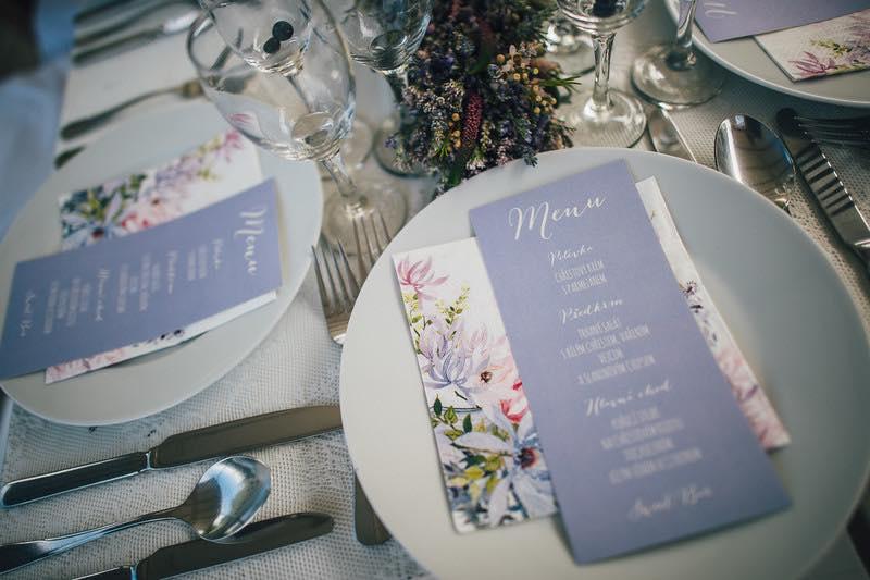 Svatební menu ve francouzském st
