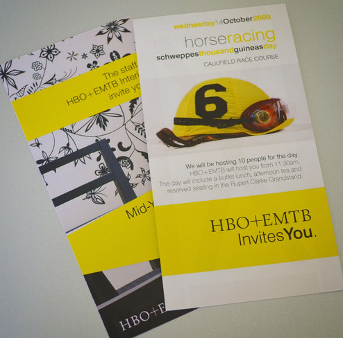 Leaflet Invitation Horse Racing