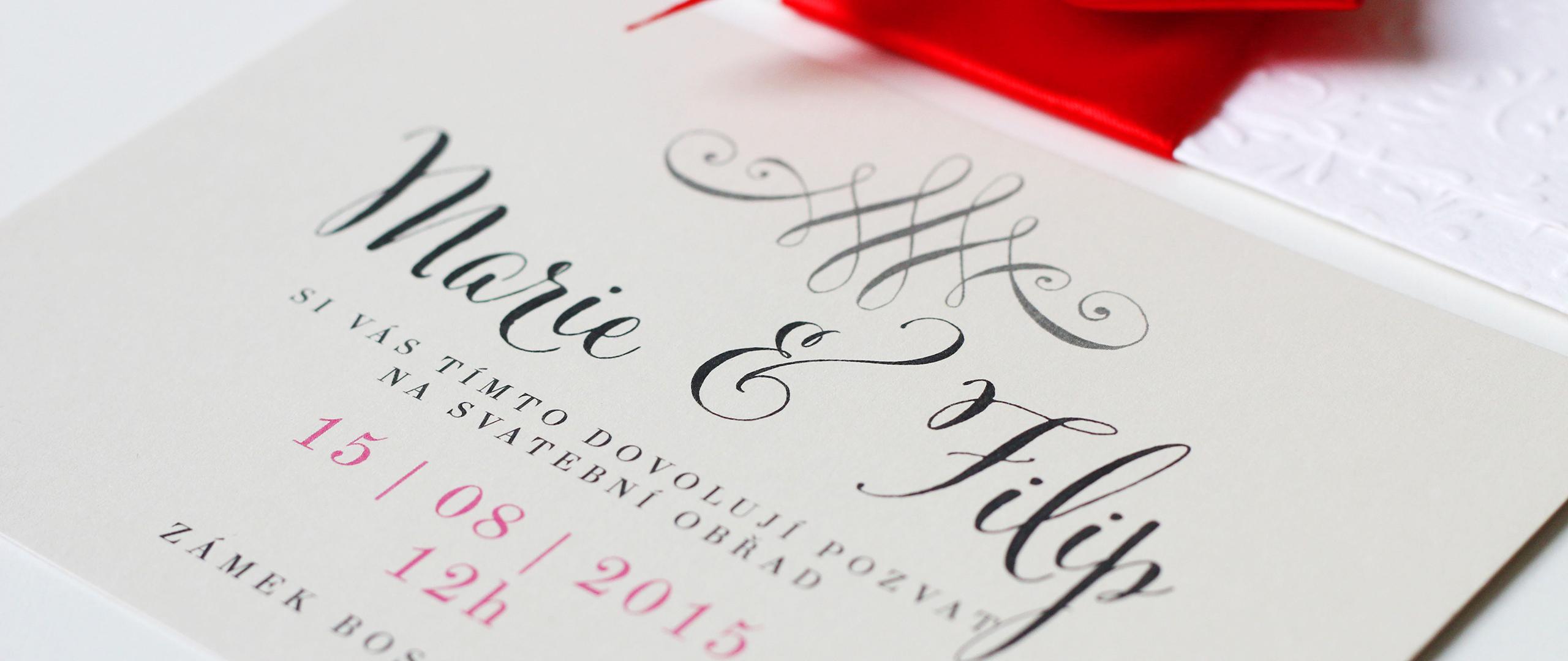 Romantické svatební oznámení