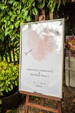 Otisky prstů svatební oznámení