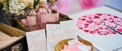 Růžová láska svtební oznámení