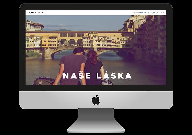 Svatební webová stránka, svatební web