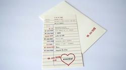 Retro formulářek svatební oznámení