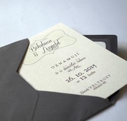 Retro svatební oznámení