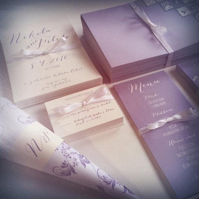 Svatební oznámení ve francouzském st