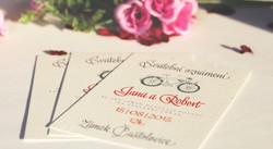 Svatební oznámení s kolem