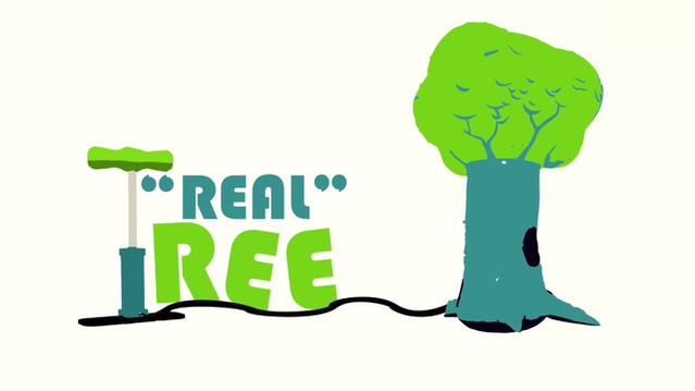 """Real"" Inflateable Tree"