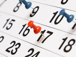 Dates des prochaines manifestations de l'AISCR