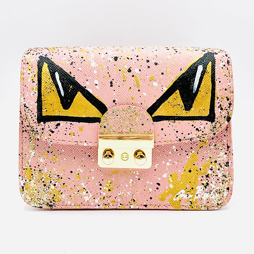 Pink Monster Eyes Crossbody