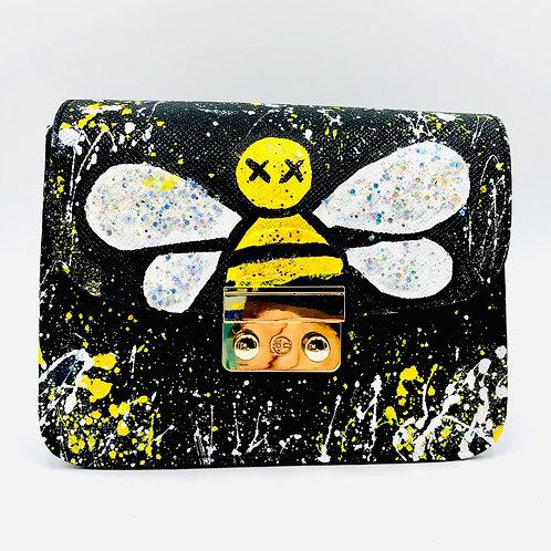 Cute Bee Black Crosbody
