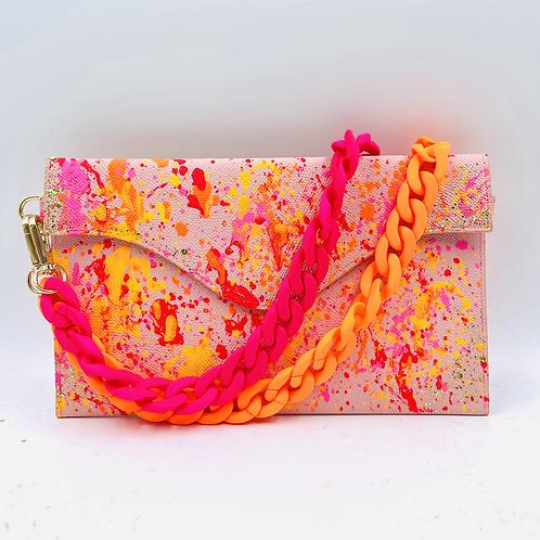 Sabrina pink orange splash