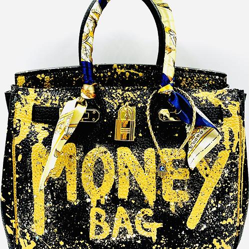Bianca30' black money bag