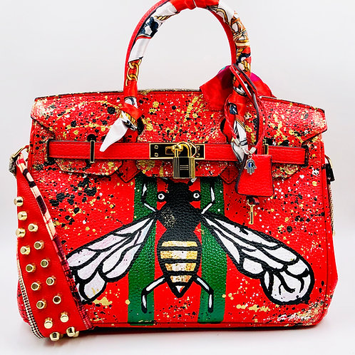 30' cm Genuine Leather Red Bee