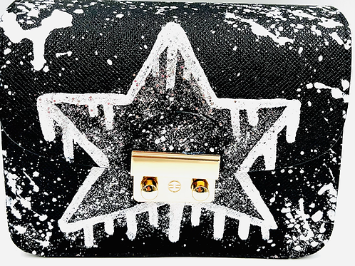 Carolina black white star drip