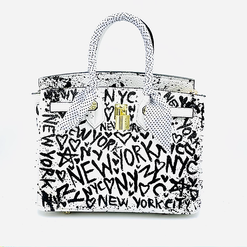 Bianca white 30' NYC graffiti