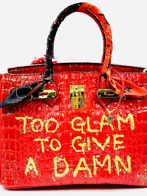 Bianca CROC 30' red too glam to give a damn