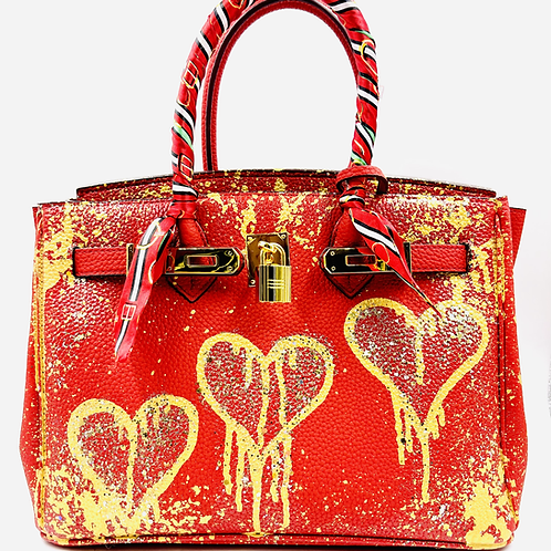 Bianca 30' red dripping 3 hearts