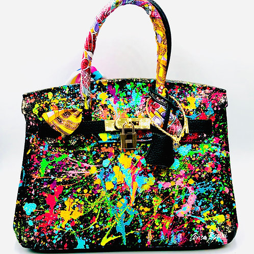 Genuine Leather 30' cm Color Abstract Bag
