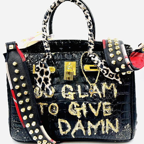 Bianca CROC black 30' too glam to give a damn
