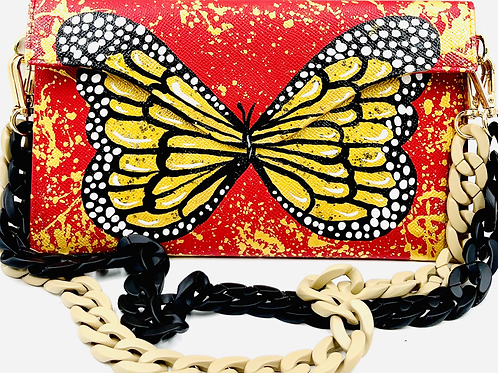 Sabrina red butterfly