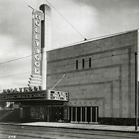 historic black and white photo of the front of the Hollywood Theater in Minneapolis, MN.jpg