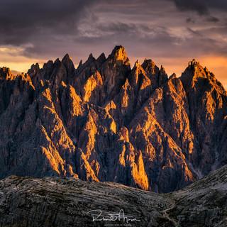 Dolomiten Alpenglühen